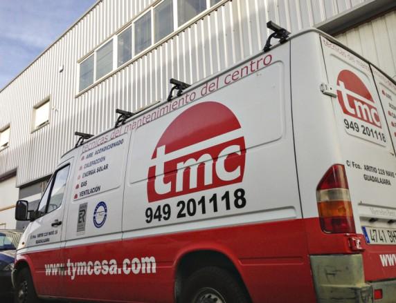 Imagen de la furgoneta de nuestro asociado TMC, en Guadalajara